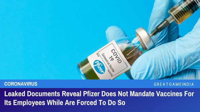 Leaked pfizer vaccine employees