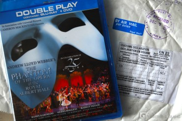 January: under the spell of Phantom, watching the dvd over and over.