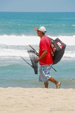 A vendor at the beach.