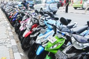 Motorbikes is a major means of transportation in Bali.