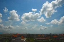A view fron my hotel: the Kuta skyline.