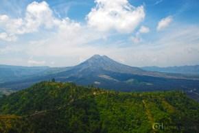 Mt. Batur, an active volcano at Kintamani town.
