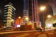 A street in Macau at night.