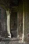 Most of the pillars/columns inside the temple have bas relief decorations.