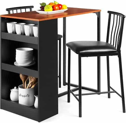 Wooden Counter Height Dining Table Set