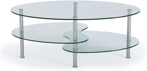Ryan Rove Modern Two Tier Coffee Table