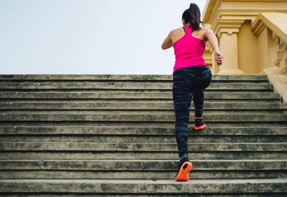 Image of exercising on the stairs