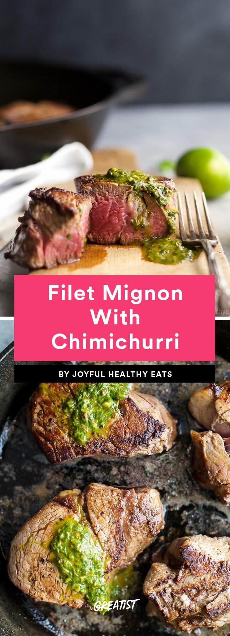 Filet Mignon With Chimichurri