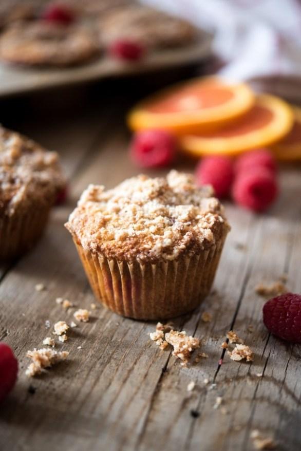 paleo orange raspberry muffins