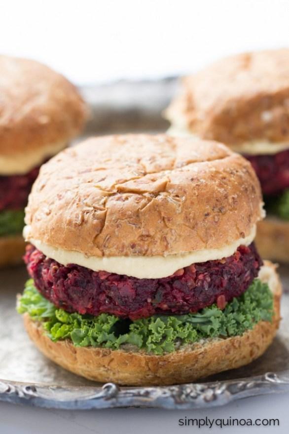 Beet Quinoa Veggie Burgers Recipe