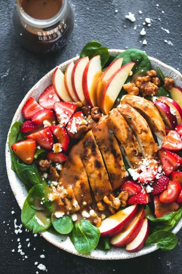 balsamic strawberry chicken salad
