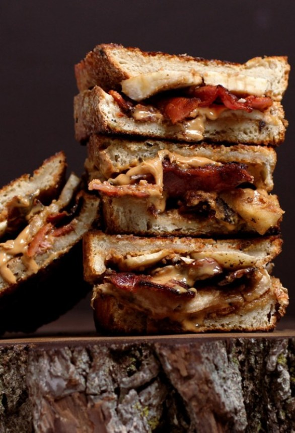 peanut butter bacon and banana sandwich