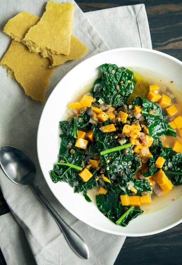 Sad veg: Garlicky Greens Soup