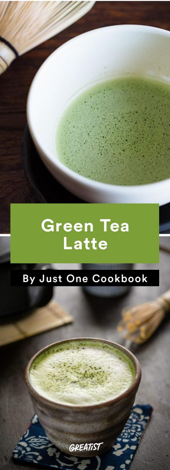 At Home Starbucks Recipes: Green Tea Latte