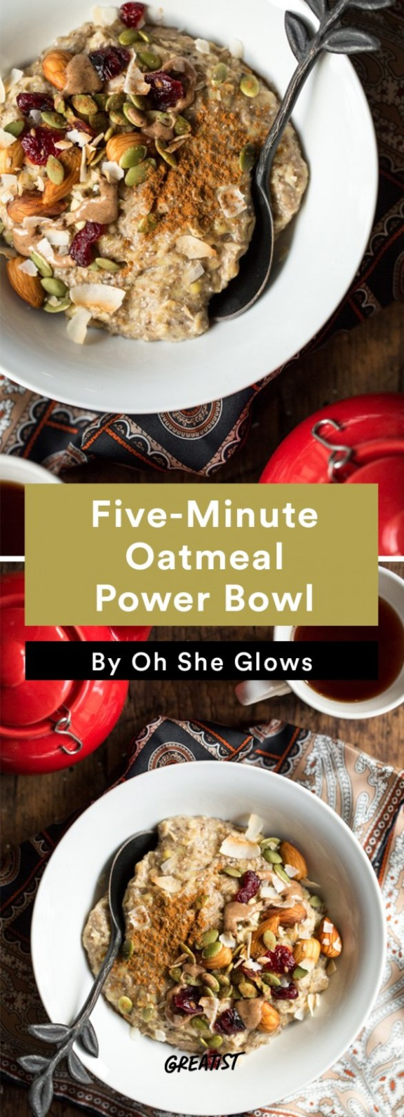oh she glows bowl: Oatmeal Power Bowl