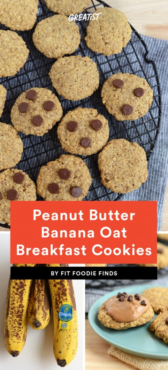 Peanut Butter Banana Oat Breakfast Cookies