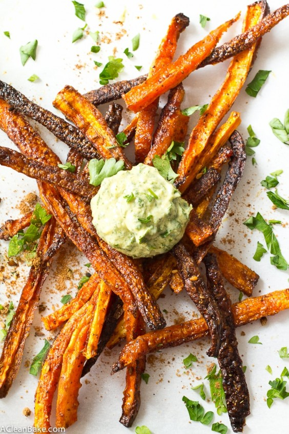 Baked Shoestring Carrot Fries With Za'atar Recipe