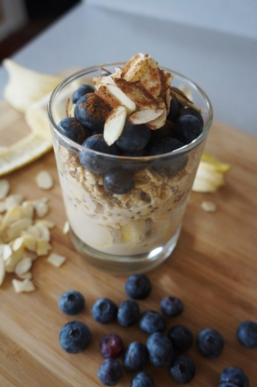 Quick Healthy Breakfasts: Blueberry Almond Overnight Oats