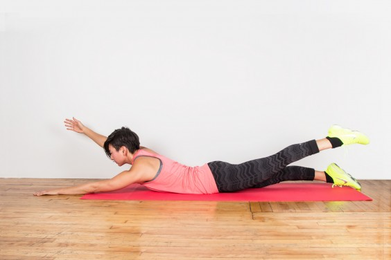 Bodyweight Exercise: Contralateral Limb Raises
