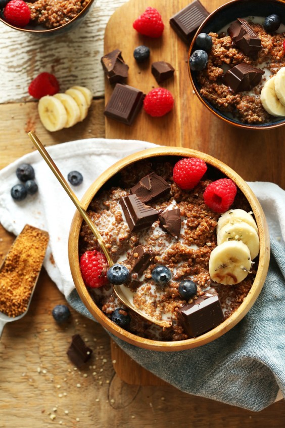Chocolate-Banana Breakfast Quinoa
