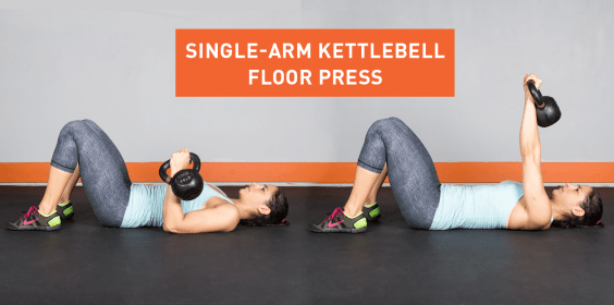 Single-Arm Kettlebell Floor Press
