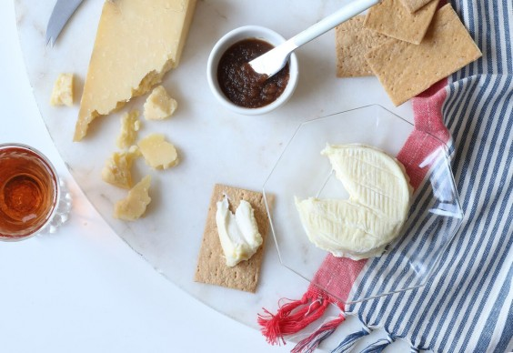 Murray's cheese plate with crackers and jam