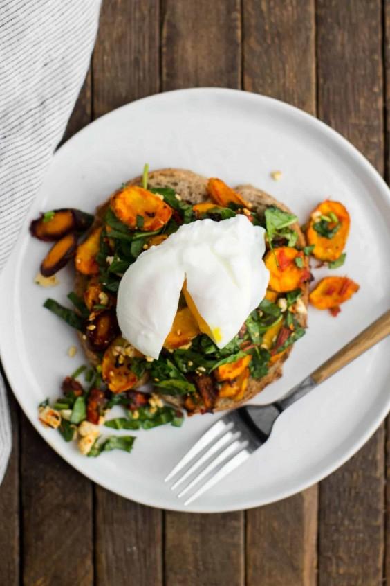 Harissa Roasted Carrot Toast Recipe