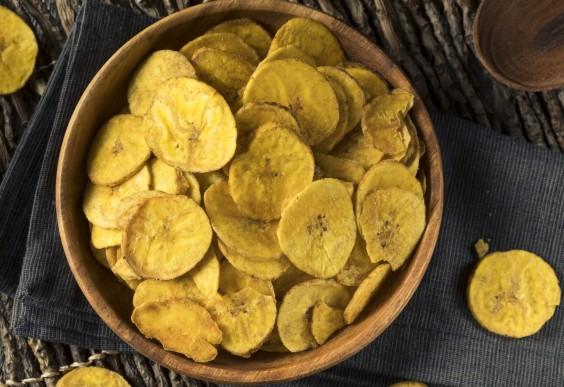 Roasted plantains in a bowl
