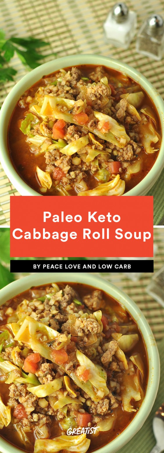 Paleo Keto Cabbage Roll Soup Recipe
