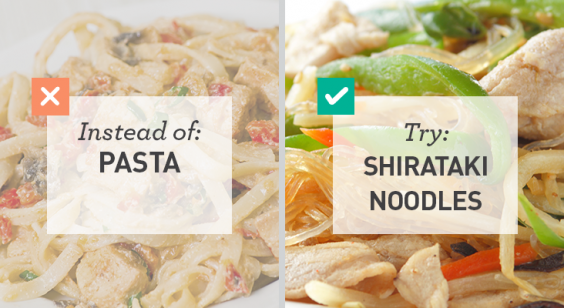 Lower-Carb Alternative for Pasta: Shiritaki Noodles