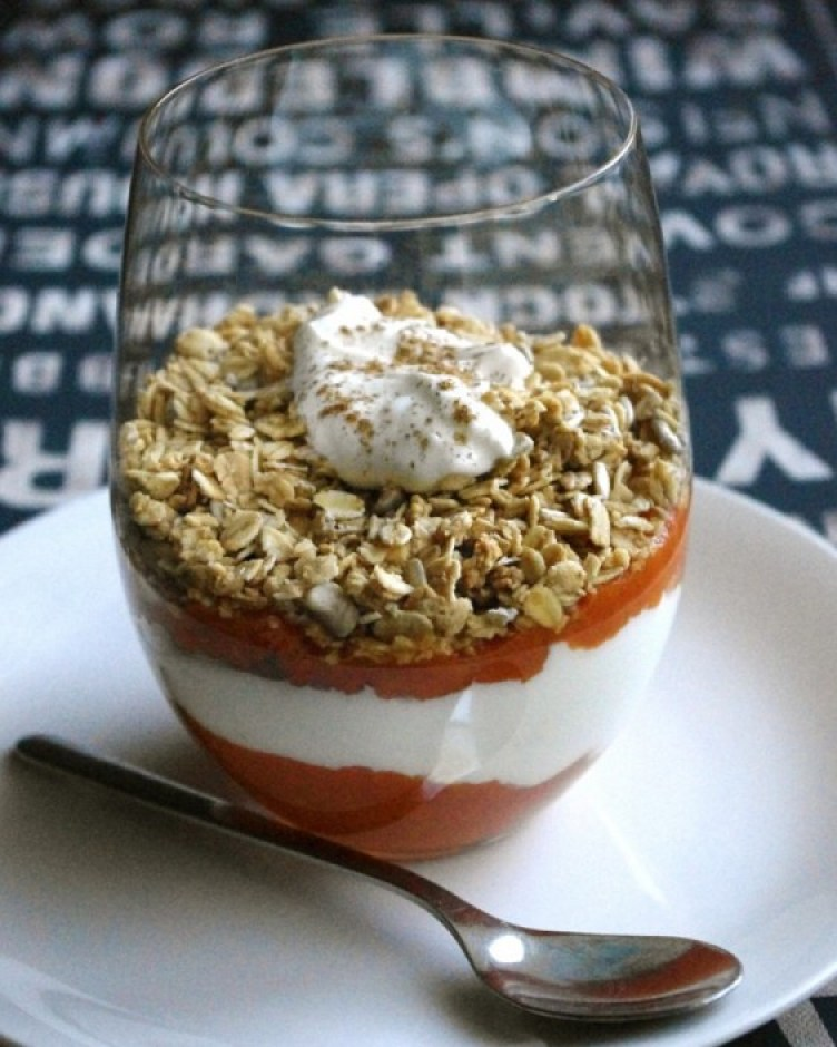 Pumpkin Granola Yogurt Parfait