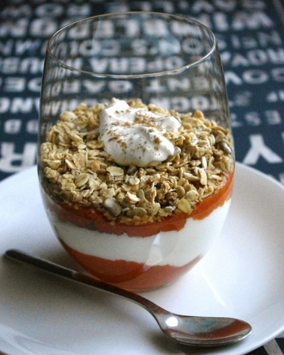 Pumpkin Granola Yogurt Parfait