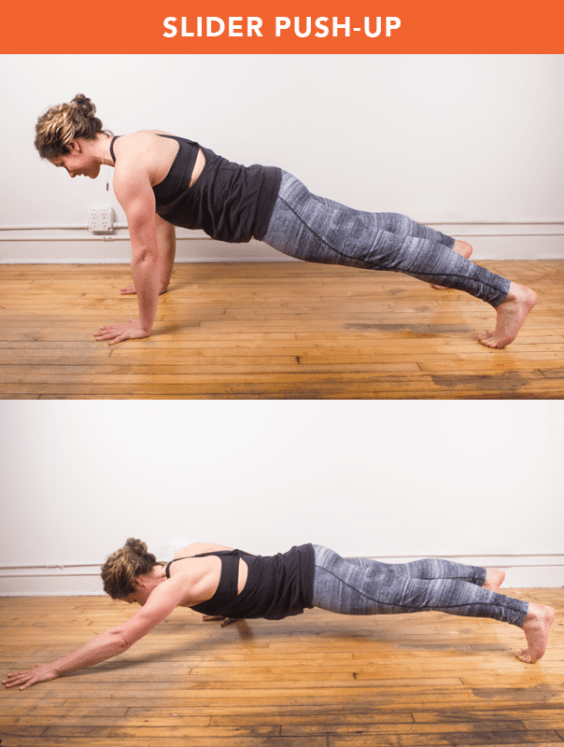 Slider Push-Up
