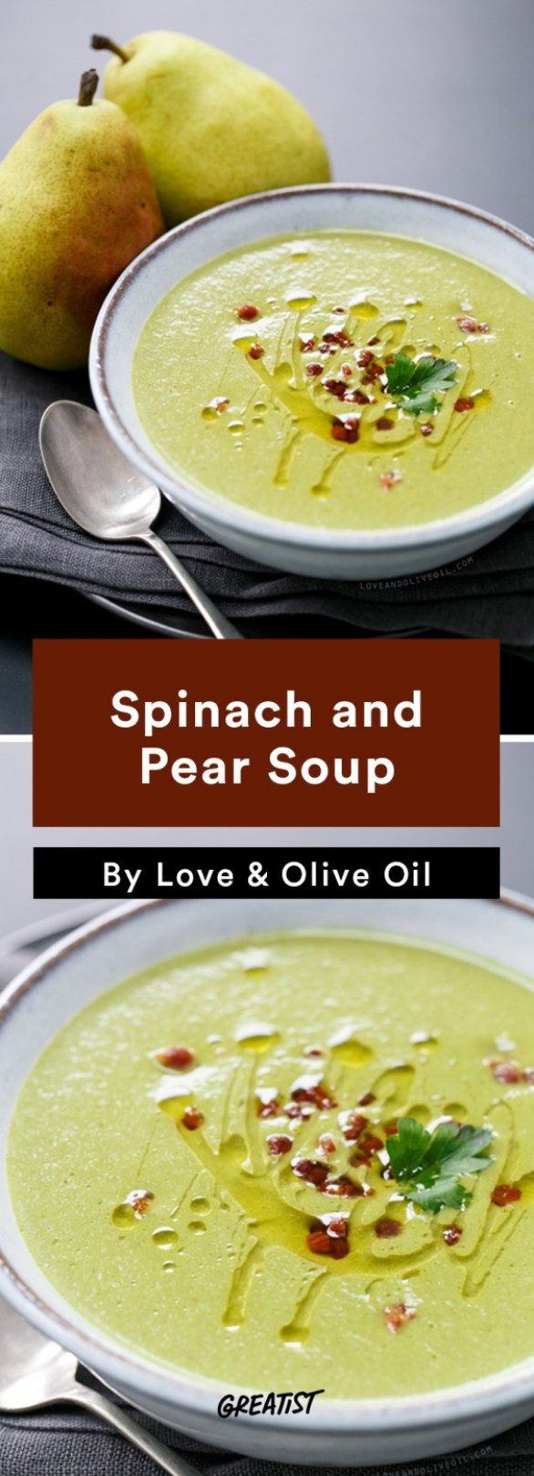 Spinach and Pear Soup