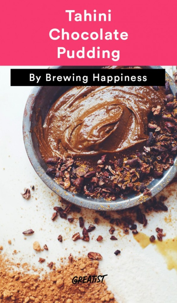 brewing happiness: Tahini Chocolate Pudding