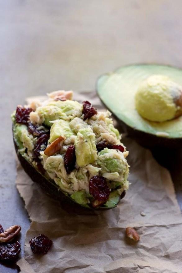 Tart Cherry Tuna Salad Stuffed Avocado Recipe