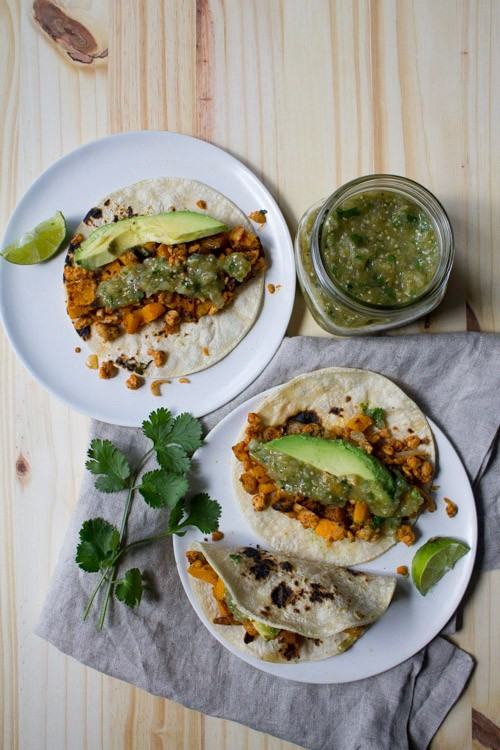 3. Butternut Squash and Tempeh Tacos