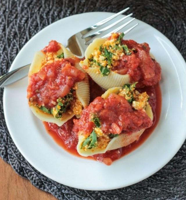 7. Pumpkin and Kale Stuffed Shells