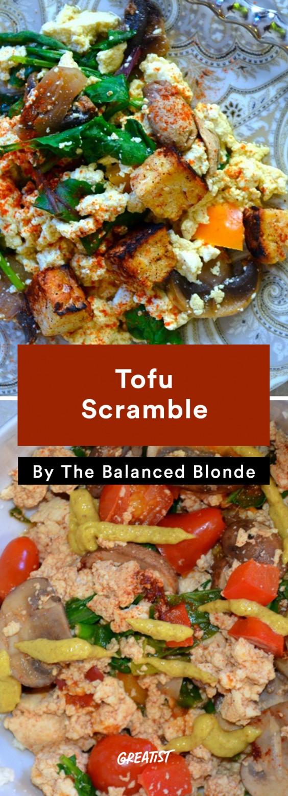Balanced Blonde: Tofu Scramble