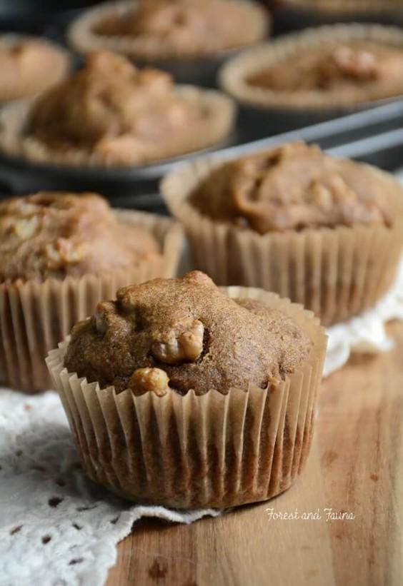 Flax Cinnamon Walnut Muffins Recipe