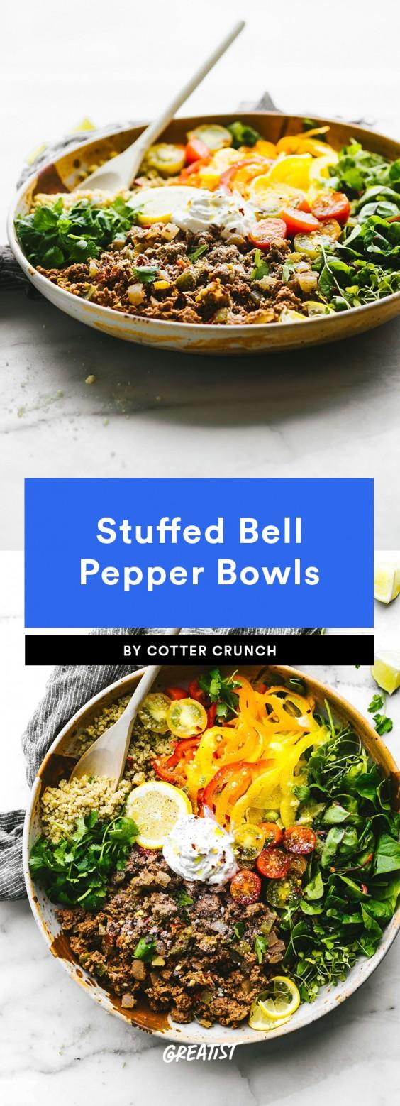 stuffed pepper bowl