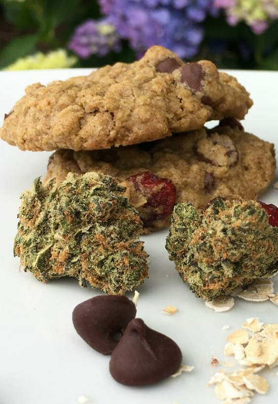 Cranberry, Cannabis and Chocolate-Chip Cookies Recipe