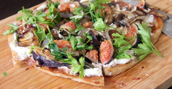 Fig and Onion Flatbread Pizza