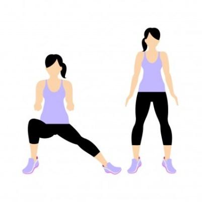 7 Min Workout: Side lunge left