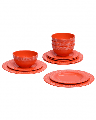 Mainstay Coral Dinnerware