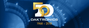 Daktronics 50 years of service logo