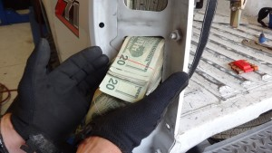 More than $130K was concealed inside this truck.