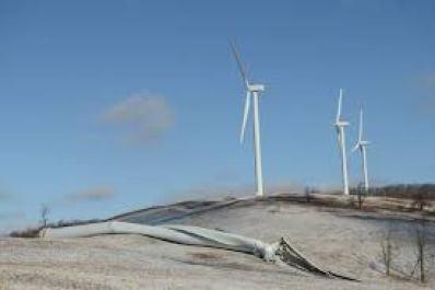 Wind Turbine Falls Over in Western PA