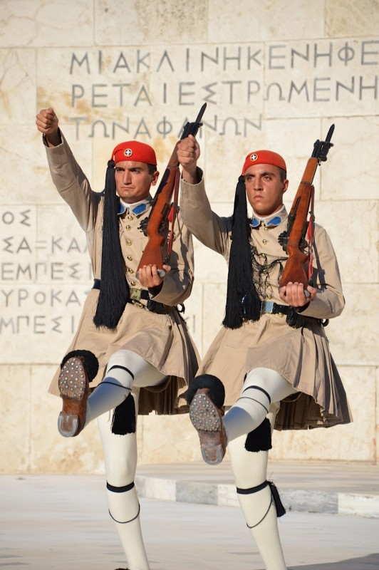 Changing of the Guard at Parliament House in Athens, Greece. Photo Credit: Tasha Birdwell