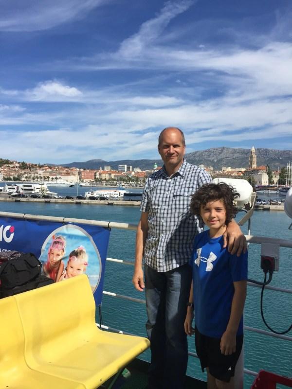 Bruce & Kasm - On the Ferry from Split to Stari Grad (Hvar)